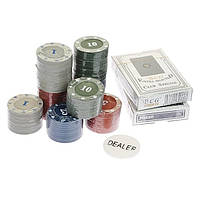 Покер набор на 100 фишек в блистере