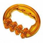 Массажёр пластик-каталка(4 пласт.колёсика кастет)