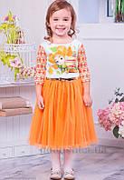 Платье Zironka Фиксики 113-1 оранжевое 116
