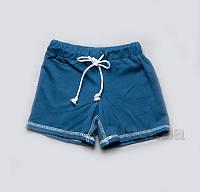 Детские шорты-бермуды для мальчиков Модный карапуз 03-00510 синие поло 116