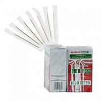 Зубочистки в индивидуальной упаковке 1000шт/уп (50уп/ящ)