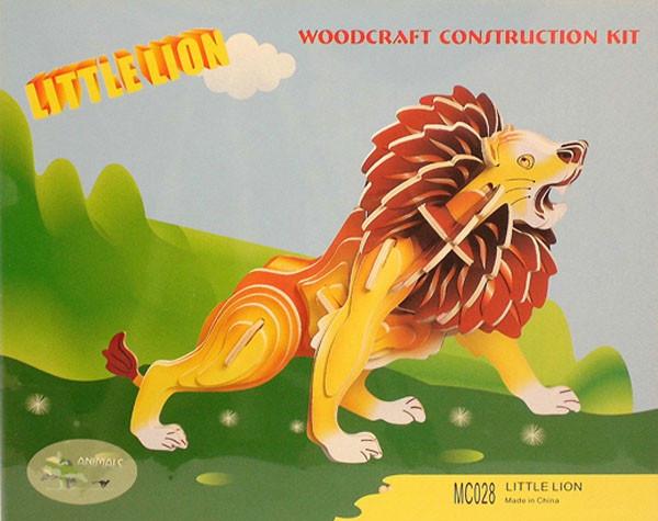 Цветная сборная деревянная 3D модель