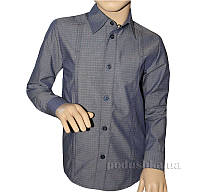 Рубашка-спорт для мальчика Промiнь ВД-0939 серая с рисунком 122