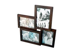 Рамка для 4 фото деревянная с подставкой, что подарить на годовщину