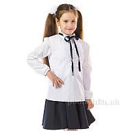 Блуза для девочки Kids Couture 17-124 белая с тесьмой 146