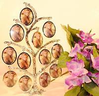 Семейная фоторамка на 12 фото, родовое дерево
