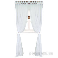 Гардина с декоративными пуговицами Прованс Классик White 50043 180х250 см