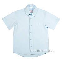 Школьная рубашка без рукавов Юность 830-2 голубая 152