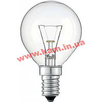 Лампочка PHILIPS E14 60W 230V P45 CL 1CT/ 10X10F Stan (926000005022)