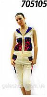 Трикотажный спортивный костюм Матрешка платок, французкий трикотаж, в стиле Лурдес в розницу
