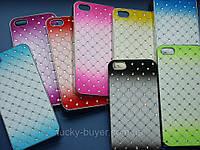 Чехол для iPhone 5 5S с кристаллами двухцветный, фото 1