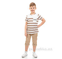 Футболка для мальчика Kids Couture 17-223 коричневая 122