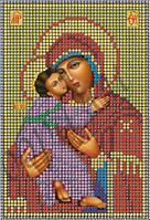 Схема для вышивки бисером Владимирская икона Божьей Матери КМИ 5008
