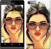 "Чехол на Huawei Ascend G6 Девушка_арт ""3005u-367"""