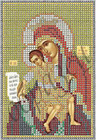 Схема для вышивки бисером Божия Матерь Достойно Есть КМИ 5011