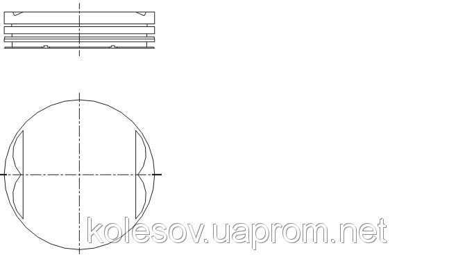 Поршни FORD Galaxy (Scorpio, Transit, Sierra) 2.0 DOHC