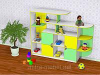 Стенка для игрушек МАЛЫШ (1940*400*1505h)