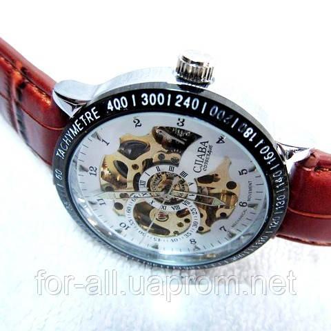 Мужские механические часы скелетон Слава С4587 купить от