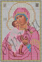 Схема для вышивки бисером Богородица Феодоровская КМИ 5041