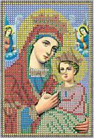 Схема для вышивки бисером Богородица Страстная КМИ 5047