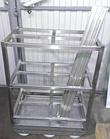 Тележка для перевозки коптильных палок