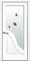 """Межкомнатная дверь """" Амата Premium белая матовая с рисунком Р1 """""""