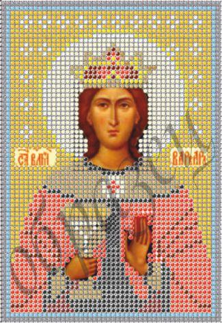 Схема для вышивки бисером Св. Мученица Варвара КМИ 5110