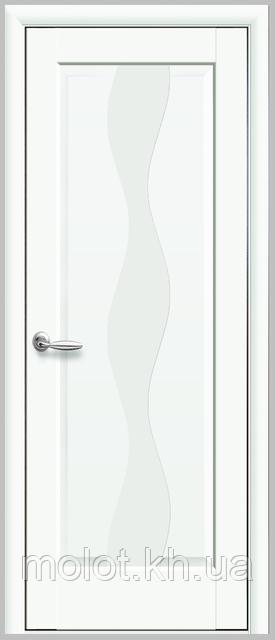 """Межкомнатные двери """" Волна Premium белая матовая глухое"""""""