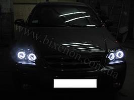 4 линзы G5 с глазами на Chevrolet Lacetti Sedan 5