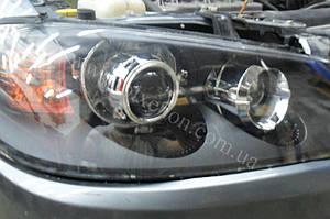 Установка линз G5 на Nissan Almera 2