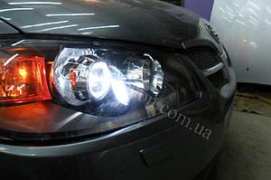 Установка линз G5 на Nissan Almera 4