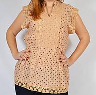 Красивая блузка с кружевом, 48-52 р-ры
