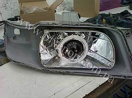 Установка биксеноновых линз G5 с глазами на Daewoo Nubira 1