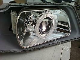Установка биксеноновых линз G5 с глазами на Daewoo Nubira 2