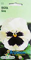 """Семена цветов Анютины глазки (Виола) белые, многолетнее 0,05 г, """" Елітсортнасіння"""",  Украина"""
