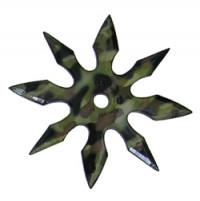 Сюрикен - метательная звезда 8 камуфляж + чехол на ремень