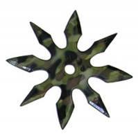 Сюрикен - метательная звезда 8 камуфляж + чехол на ремень, фото 1