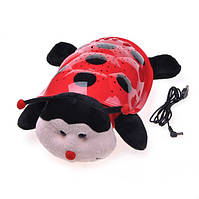 Божья коровка ночник-проектор звездного неба, музыкальная / cartoon ladybird night sky constellation