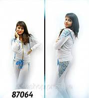 Женский спортивный костюм Матрешка белый, дайвинг, стильный молодежный спортивный костюм недорого