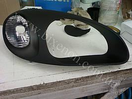 Установка биксеноновых линз G5 с покраской накладок на Daewoo  Lanos 2