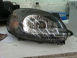 Установка биксеноновых линз G5 с покраской накладок на Daewoo  Lanos 5