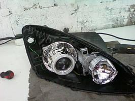 Установка биксеноновых линз G5 с глазами с покраской накладок на Kia Ceed 2