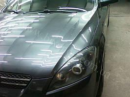 Установка биксеноновых линз G5 с глазами с покраской накладок на Kia Ceed 10