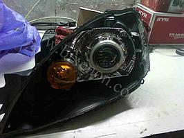 Установка биксеноновых линз G5 с масками 2.8 на Lancer 9 1