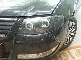 Установка биксеноновы линз G5 с глазами с покраской накладок на Nissan Almera 8