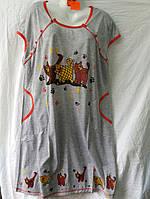 Женская ночная рубашка батал (р.5XL,6XL,7XL) LD10