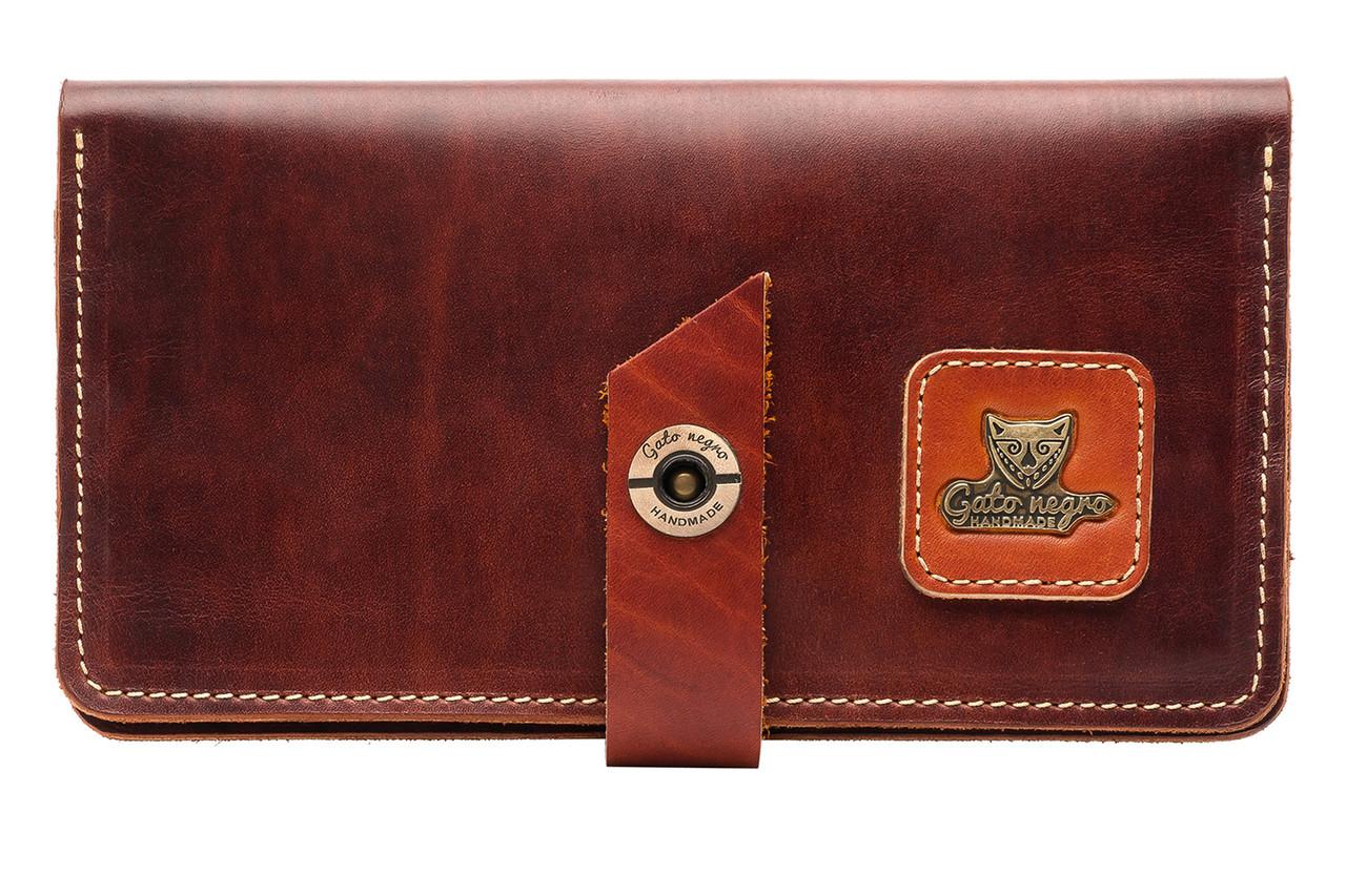 e78257f1af0c Кожаный кошелек клатч ручной работы Travel, мужской коричневый (мужские  кошельки из натуральной кожи)