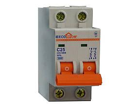 Автоматический выключатель ЕСОНОМЕ, 2Р, С, 25А, (04-01-25) шт.