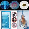 Сетка на дверь от комаров на магнитах, 210х100 с рисунком, фото 2