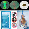 Сетка на дверь от комаров на магнитах, 210х100 с рисунком, фото 3
